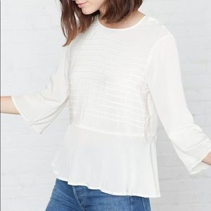 amour vert ivory blouse - xs